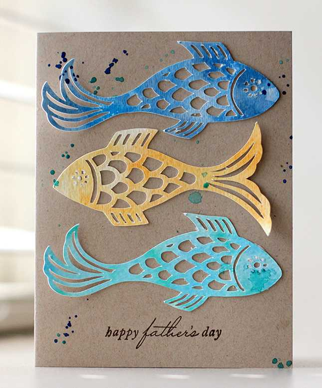 Fishy Father's Day Card | Kalyn Kepner for Silhouette
