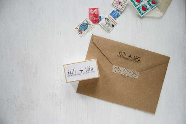 Silhouette Mint | Return Address Stamp | Brittany Sazonoff (BSaz Creates) for Silhouette America
