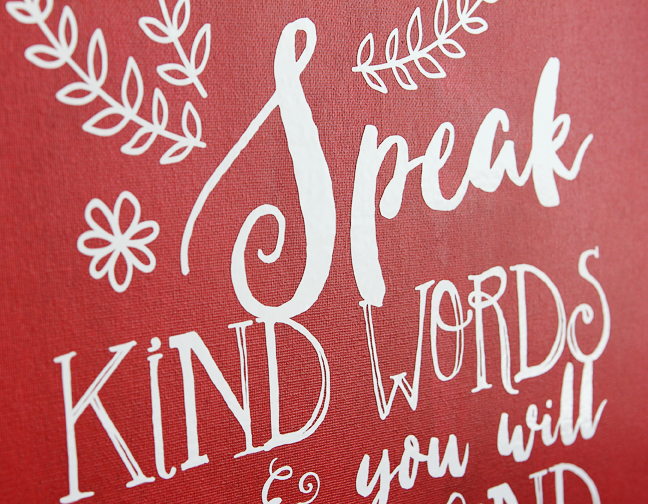 Speak Kind Words vinyl detail