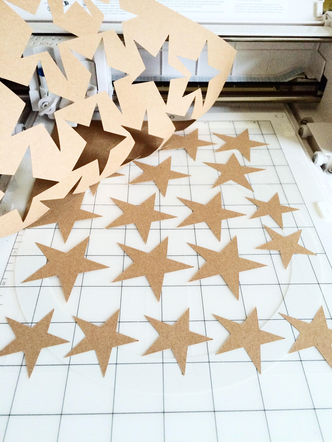 Glow in the Dark Star Garland Tutorial | Brittany Sazonoff (BSaz Creates) for Silhouette America
