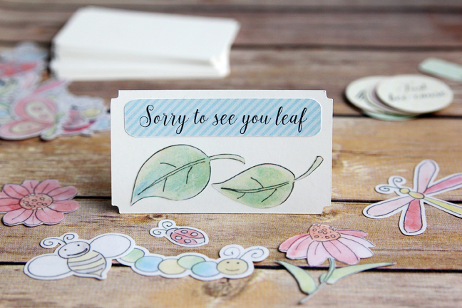 Sticker notecard - leaf