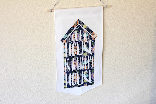 Free Design Of The Week: Clean House Fabric Banner | Analisa Murenin for Silhouette