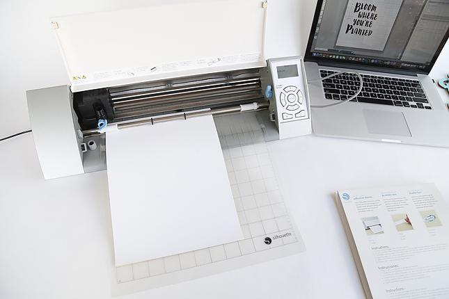 Cut adhesive paper