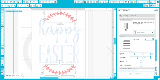 Sketched Canvas Easter Art With Curio™ | Analisa Murenin for Silhouette