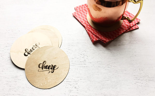 Featured Image for Stamped Wooden Coasters (#27270)