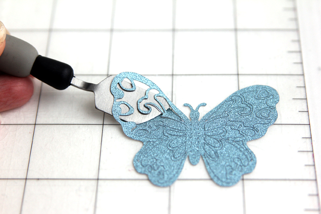 butterfly purse - spatula tool