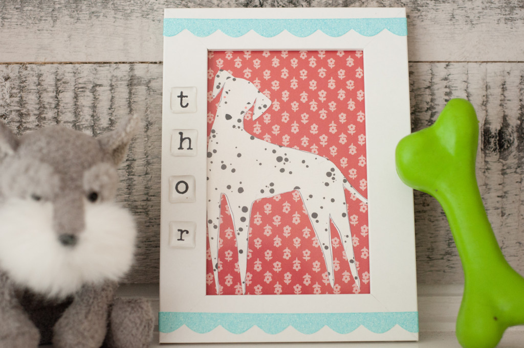 Framed Dog Art: A PixScan Tutorial | Erica Sooter for Silhouette America