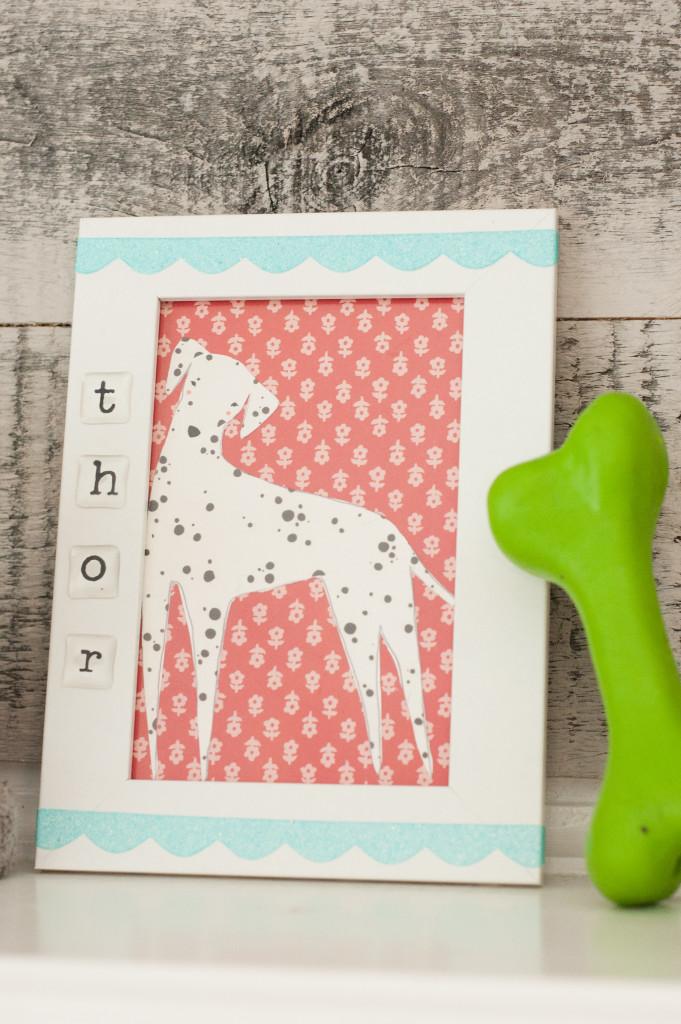 Framed Dog Art: A PixScan Tutorial | Erica Sooter for Silhouette America