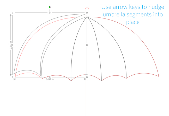 ss arrange umbrella sections