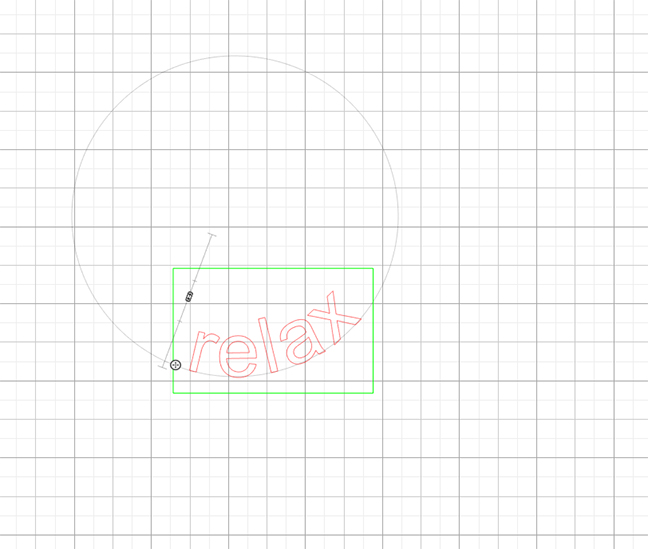 Text jumps into the circular shape