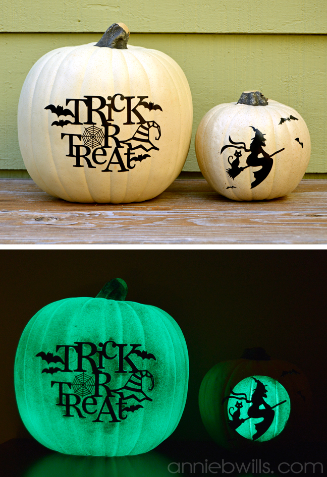 Halloween Decor Ideas For Your Silhouette - Glow In The Dark Vinyl Pumpkins by Annie Williams