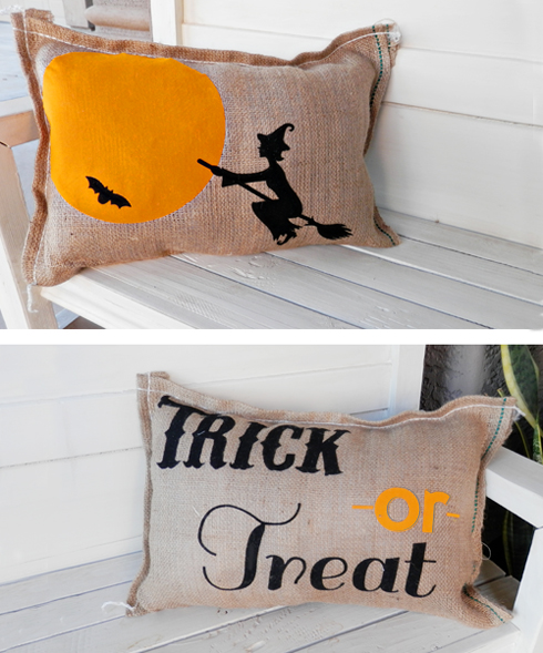 Halloween Decor Ideas For Your Silhouette - Halloween Pillows by Lindsey of BetterAfter