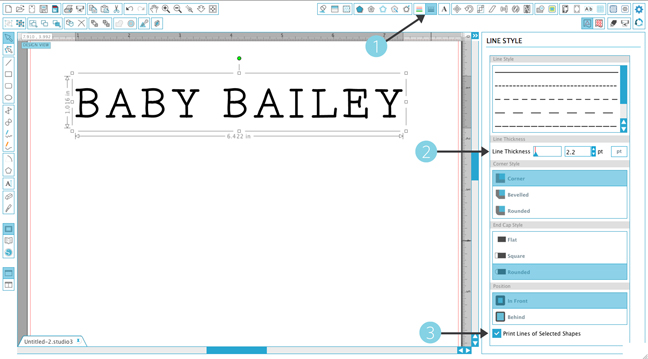 How to manually thicken a font that doesn't have a bold option | Brittany Sazonoff for Silhouette America