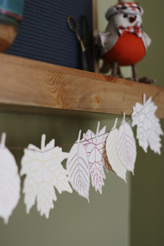 Sketch Pen Leaf Garland by Brittany Sazonoff (BSaz Creates) for Silhouette Inc.