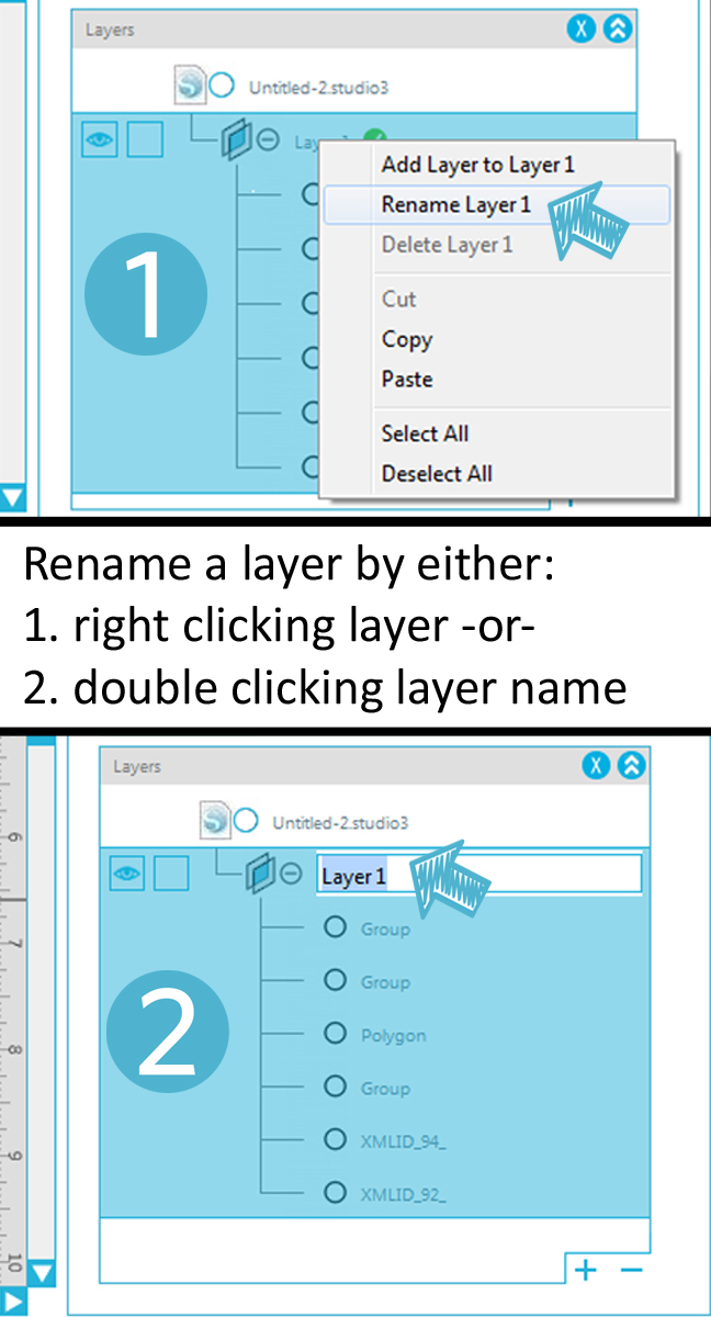 How to use the Layers feature in Silhouette Studio Designer or Business editions
