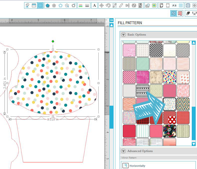 Easily fill shapes with patterned papers with your Silhouette