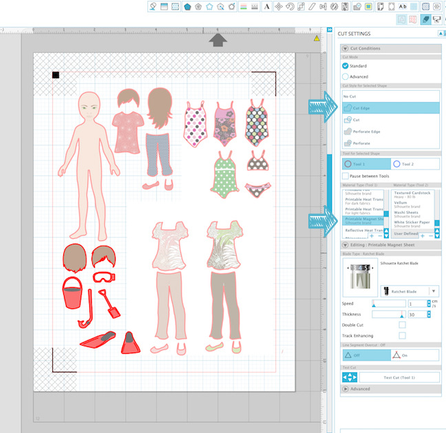 Make Magnetic Paper Dolls With Your Silhouette CAMEO
