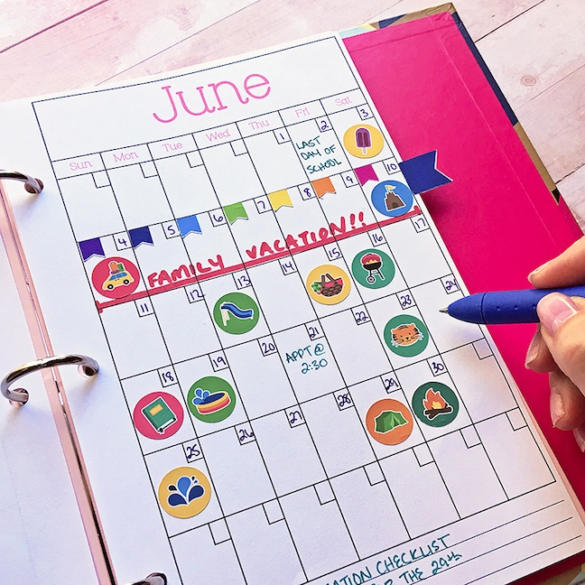 Summer Planner Pages With The Portrait