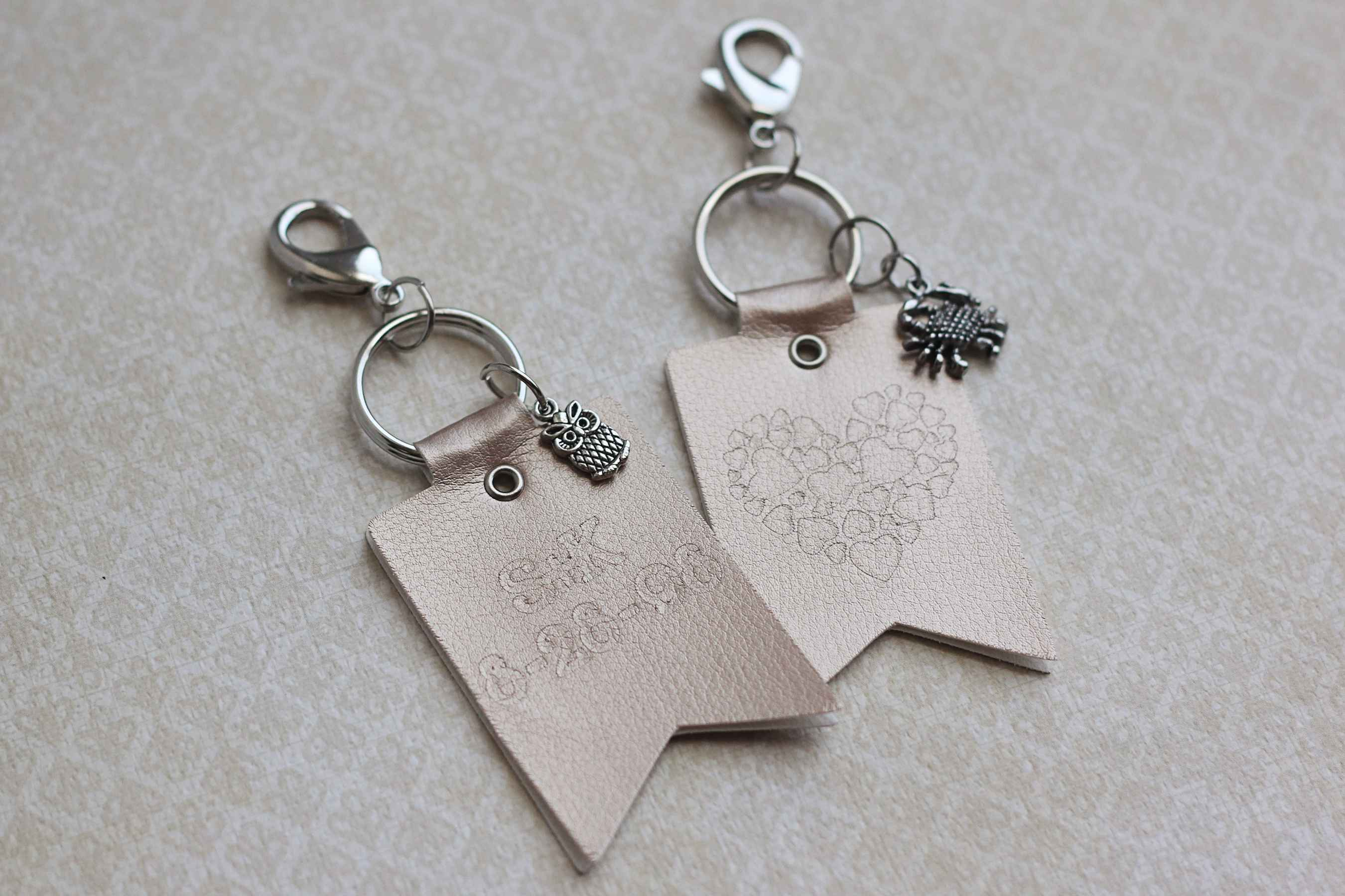 Featured Image for Embossed Leatherette Key Chains (#98478)