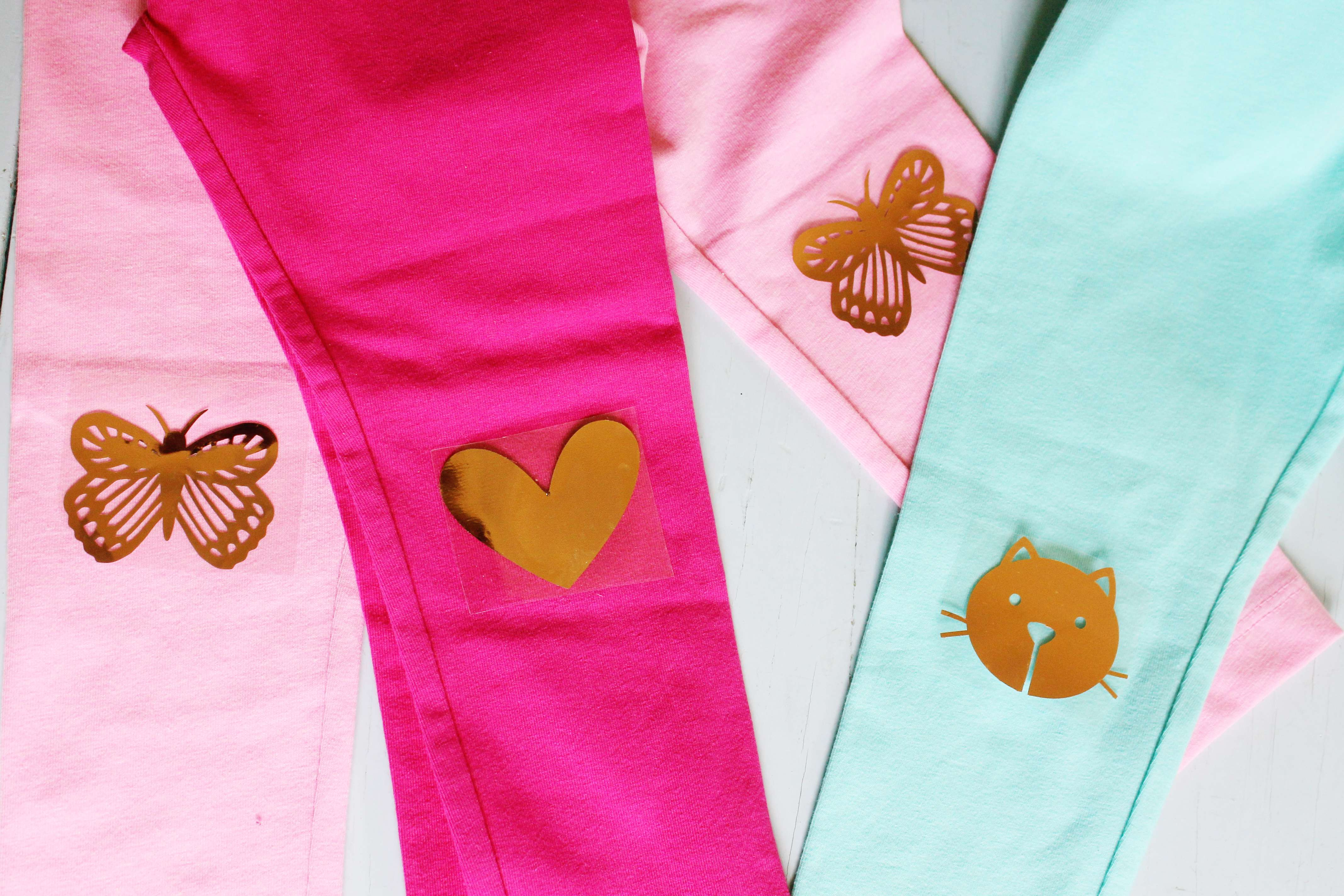 Featured Image for Little Girl Leggings With Copper Heat Transfer Material (#100728)