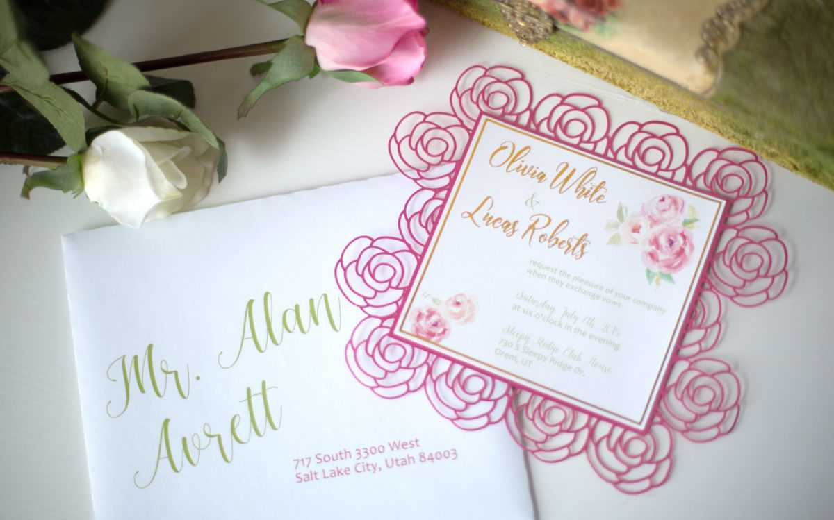 Featured Image for Rose Wedding Invitation (#107361)