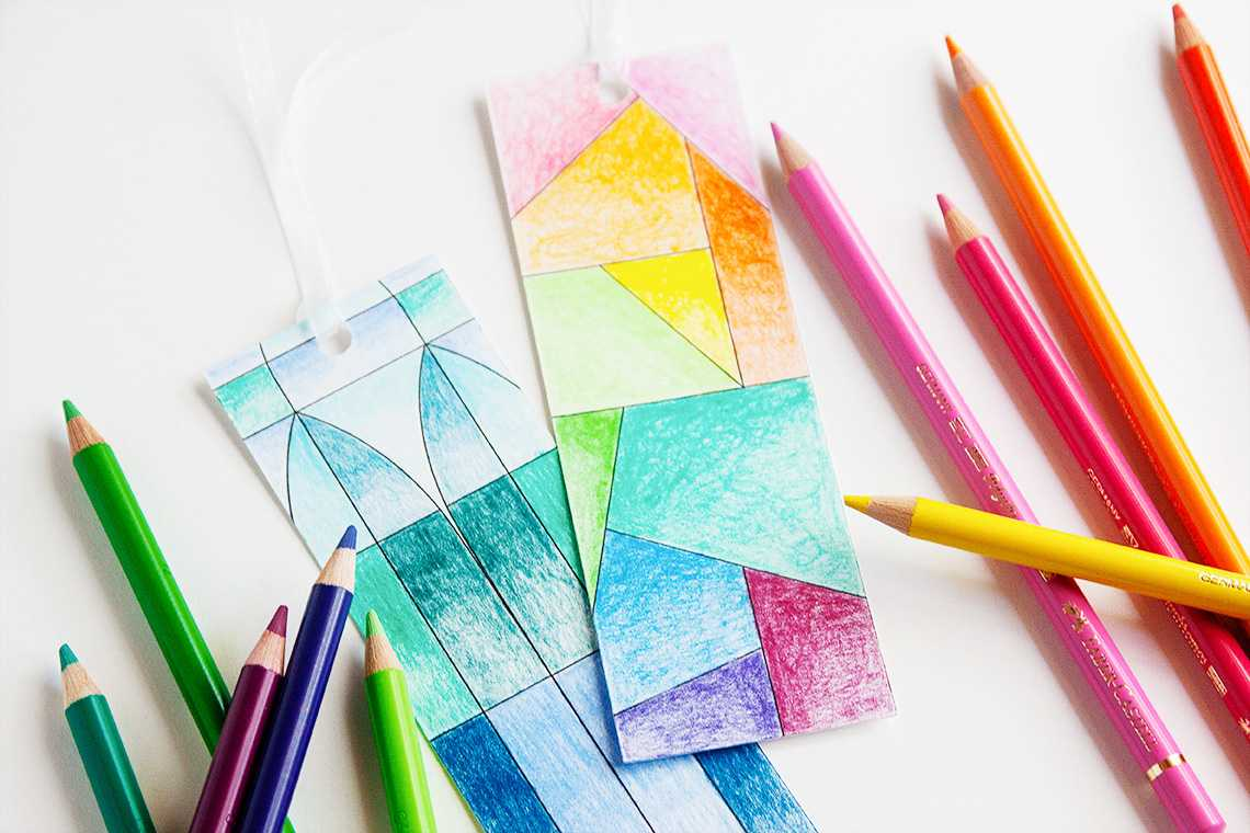 Featured Image for Stained Glass Coloring Bookmarks (#113397)