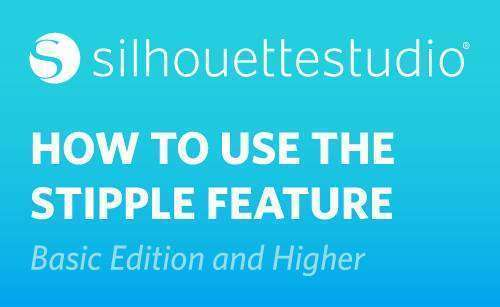 Featured Image for How to Use the Stipple Feature in Silhouette Studio® (Basic Edition and Higher) (#115085)