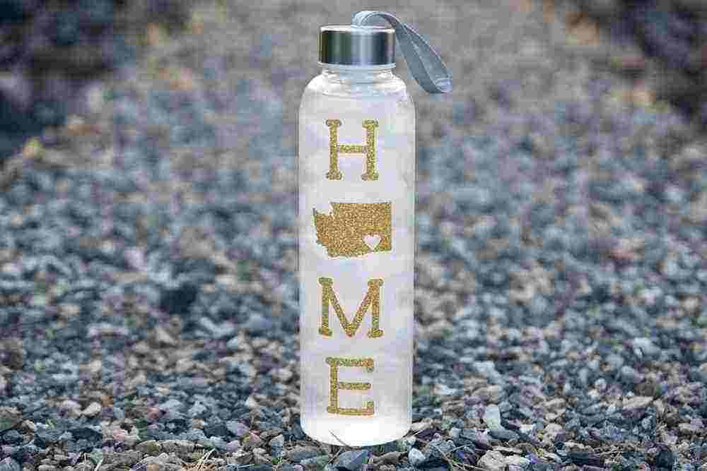 "Featured Image for ""HOME is Where the Heart is"" Personalized Water Bottle (with Intake Tracker) (#99917)"