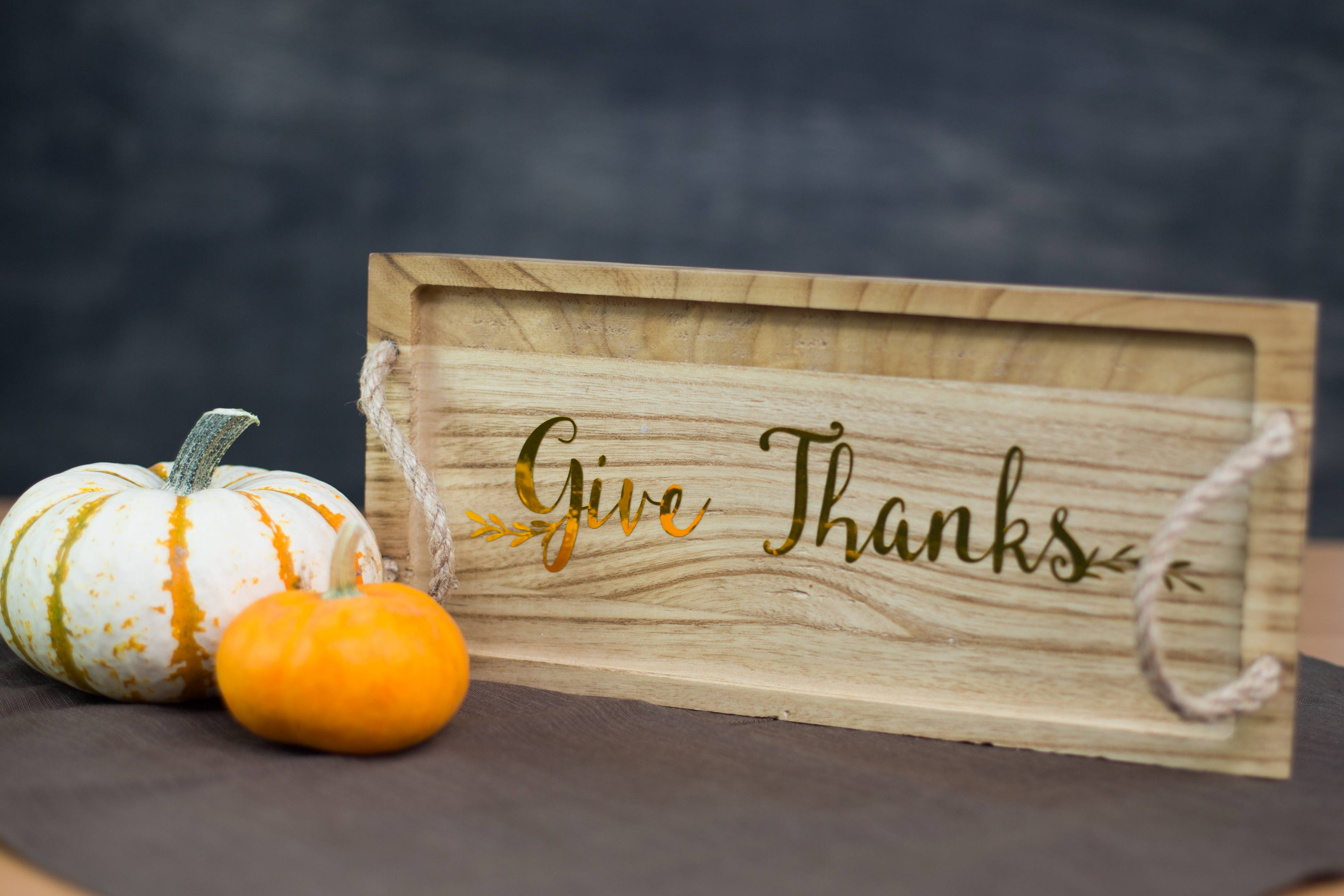 Featured Image for Give Thanks Wood Tray (#105663)