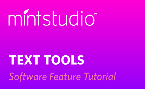 Featured Image for Text Tools in Mint Studio™ (#115819)