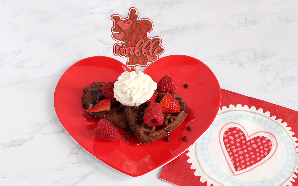 """Featured Image for """"I Love You"""" Waffle Topper (#121274)"""