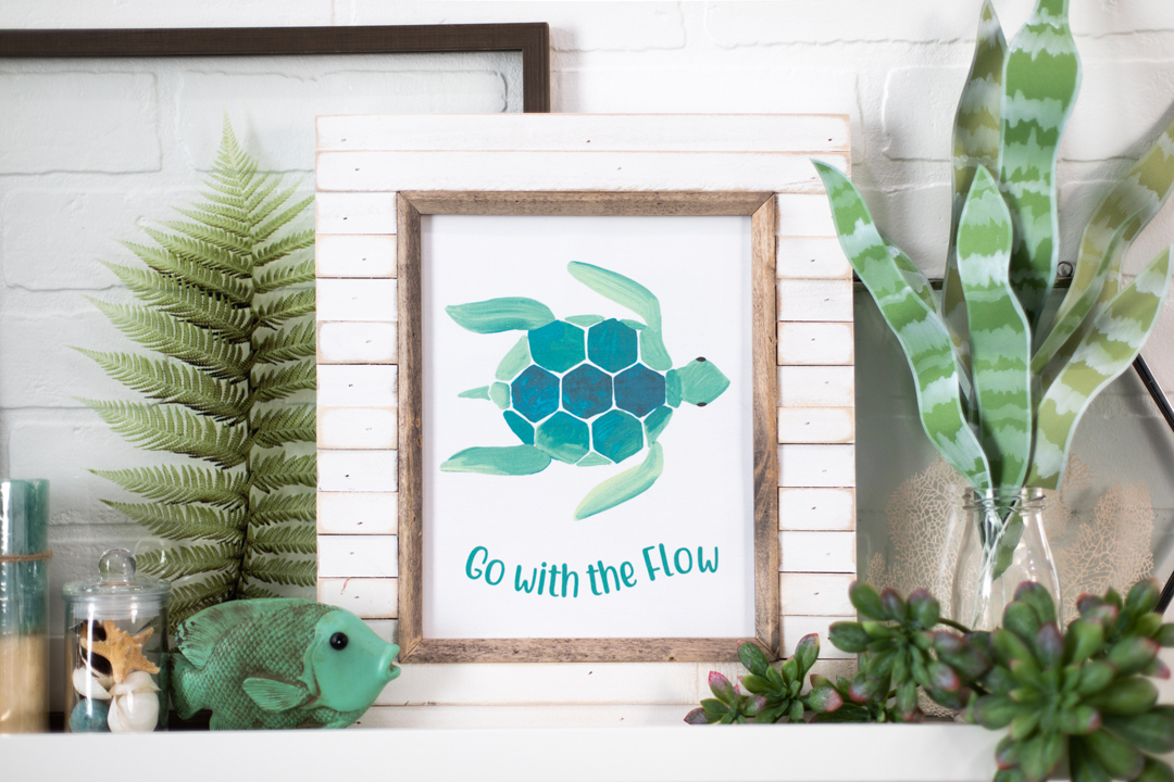 Featured Image for Go with the Flow Printable Framed Art (#128181)