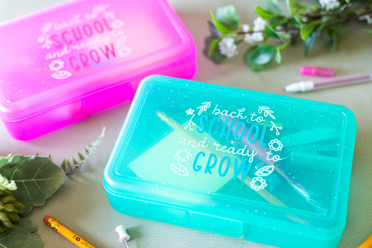 Featured Image for Two Tone Vinyl Pencil Box (#128645)